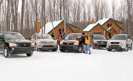 2003 Buick Rendezvous vs. Honda Pilot, Mitsubishi Endeavor, Nissan Murano, Toyota Highlander