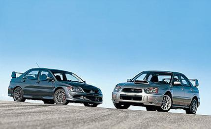2005 Mitsubishi Lancer Evolution MR Edition vs. Subaru Impreza WRX STi